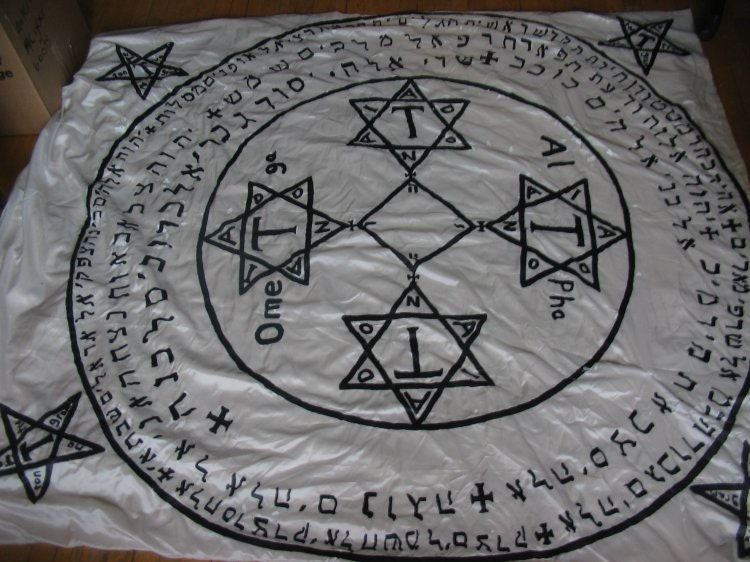 Grimoire Goetia Or Custom Evocation Circle Hand Painted By