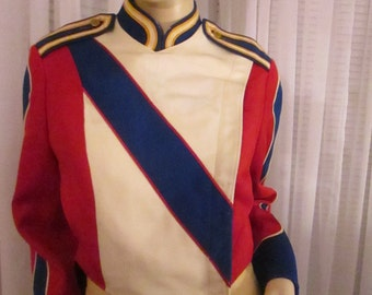 On Sale..........1960's SOL FRANK Uniforms, Inc. Red White Gold and Blue Band Jacket