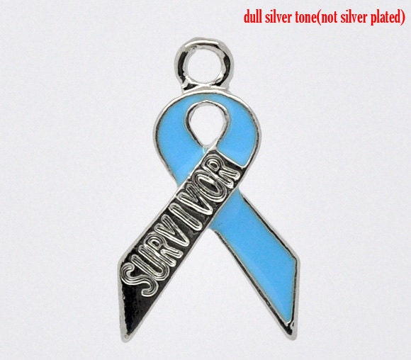 20 survivor ribbons awareness charms wholesale