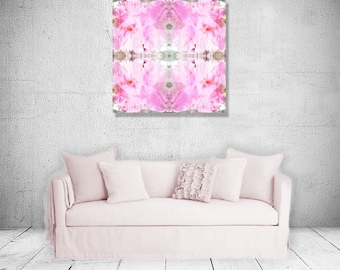 The Truth is in your Heart Pink White Orange Mysterious Home Decor Mandala For Her Flower Digital Art Spritual-like -MD0038P