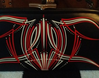 Custom pinstriped PURSE hand painted hot rod rockabilly retro