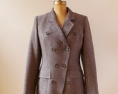 Vintage 1990's Designer Guy Laroche Jacket / Made in France / Wool & Cachmere Jacket / High Fashion Jacket / Preppy Jacket/ Small and medium