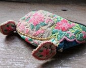 Vintage Miao Hmong folk art embroidered textile baby hat,Tribal Embroided Folk Art
