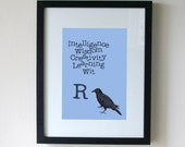 Ravenclaw Postcard Harry Potter Postcard Cute Postcard Mini Print