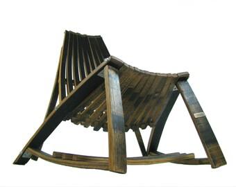 Bourbon Barrel Lounge Chair ( Black, brown, modern)
