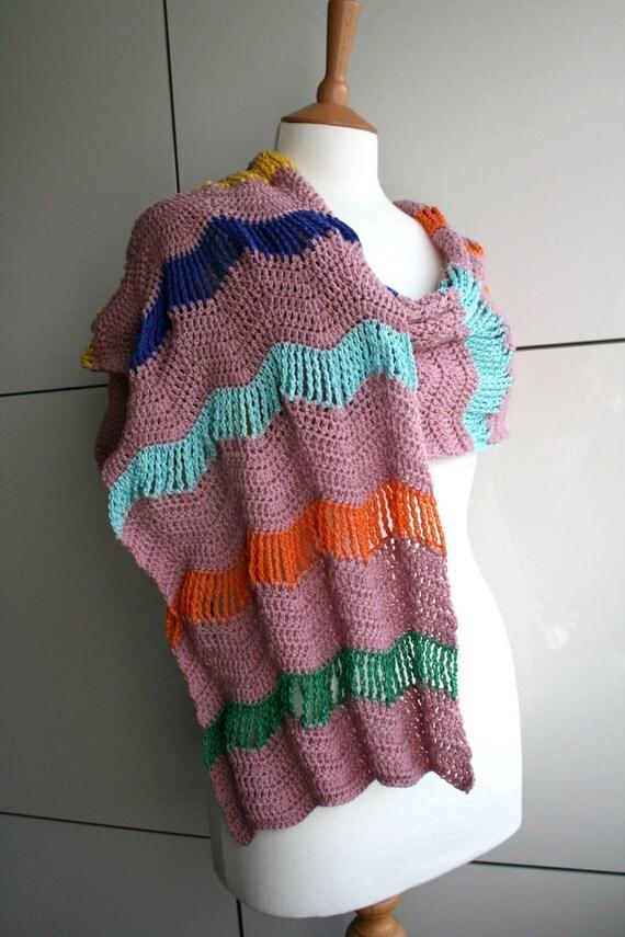 Crochet Pattern For Zig Zag Rug : Crochet pattern Pink Zig Zag crochet shawl pattern 169