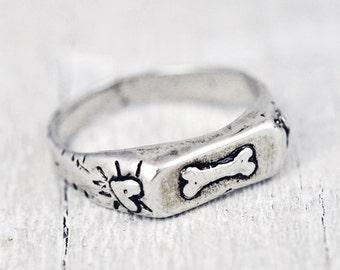 Unconditional Love Ring - Pet Jewelry - Dog Ring -  Handmade Jewelry - Dog Jewelry - R310