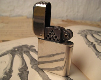 1940s Bowers No 10 Flip Top Lighter Made in USA - rehabbed with new flint, wick and cotton - great daily user