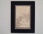 "1950s Map of Melbourne Suburbs, Australia - Greensborough, Watsonia, Macleod - Ready to Frame, 6 x 8"""