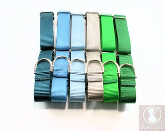 "Mix and Match 1"" Wide (25mm) Martingale Dog Collars // Red // Blue // Purple // Brown // Black // Green // Grey // Pink // Orange // Tan"