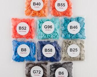 250 Vibrant Boy SUPER STARTER Pack KAM Snap/Plastic Snaps for Cloth Diapers/Bibs Blue/Orange/Tan/Teal