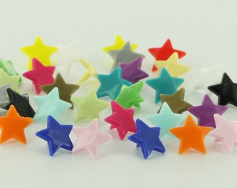 KAM Snaps STAR Shaped Snap Complete Sets (You Choose 5 Colors) for Diapers/Bibs/Cloth/Snap/Kam Snap