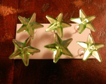 Mirror Style Star Luck of the Irish Push Pins/ Thumb Tacks Set of 6