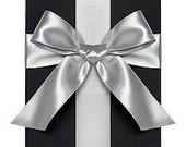 """Silver 1/4"""" Satin Ribbon Paper Source 10 Yard Roll Destash Sale"""