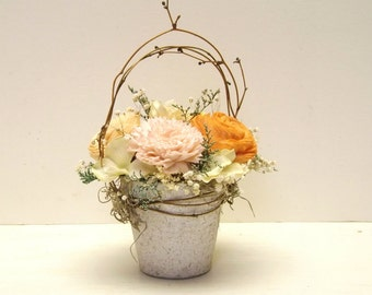 Sola Flower Centerpiece Wedding Decoration Custom Colors Welcome Small Arrangement Made to Order