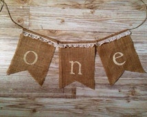 First 1st Birthday One Shabby Chic Banner Bunting high chair tutu