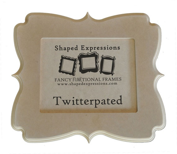11x14 whimsical picture frame - Twitterpated unfinished