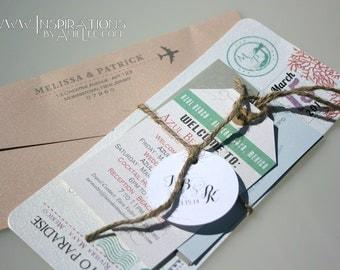 Boarding Pass Wedding Invitation Sample