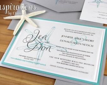 Wedding Invitations, starfish invitations, invitations