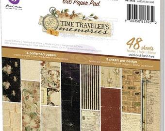 "Prima TIME TRAVELER'S Memories 6"" x 6"" paper pad - new"