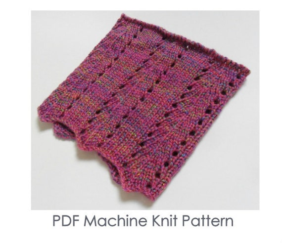 Items similar to Chunky Machine Pattern - Chunky Cowl - Machine Knitting Patt...