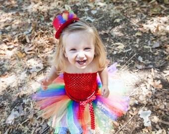 Clown Costume Tutu, Baby Girl Halloween Costume, Girl Clown Costume, Toddler Clown Tutu, Toddler Clown Costume, Rainbow Tutu