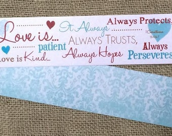 Bookmark - Scripture - Love is Patient... - 1 Corinthians 13:4-7