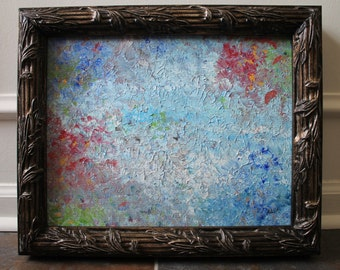 Across the Pond, Original Abstract Impressionism Painting