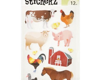 36 Farm Stickers