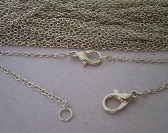 """25pcs  1.5mm 17inch light Gold color (copper) """" 0"""" shape Link  chain"""