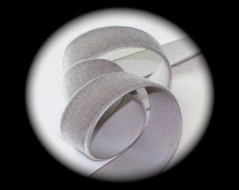 """Velvet Ribbon - 10 yds x 7/8"""", Medium Gray,  100% Rayon (Picture is of 5/8"""")"""