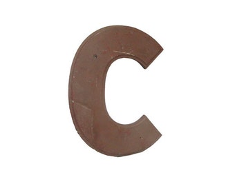 Vintage Sign Letter C, Architectural Industrial Advertising Salvage