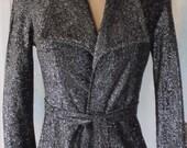 Black Lurex Blouse Jacket Top