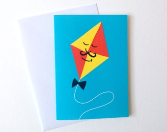 Congratulations Card, graduation card, boyfriend birthday card, cute husband card, fun moustache card, retro design card, good luck card