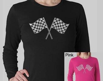 Women's Long Sleeve Shirt - Created using list of NASCAR National Series Race Tracks