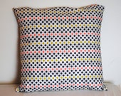"""floral/polka dot print cotton fabric pillow cover 16"""""""