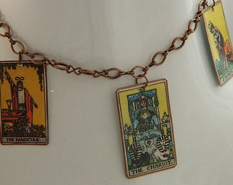 Tarot necklace tarot jewelry mixed media jewelry supernatural