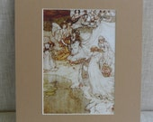 "Vintage Pair of  Illustration Lithograph Prints by Arthur Rackman  - ""A Midsummer's Nights Dream"""