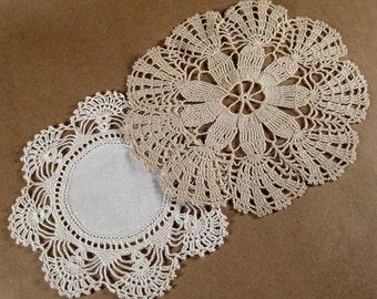 Vintage Handmade Crocheted Doilies