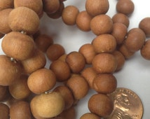 Sandalwood Beads 8mm 5 strands Hand Carved from Rajasthan India Wholesale Bulk Premium Beads SB0008