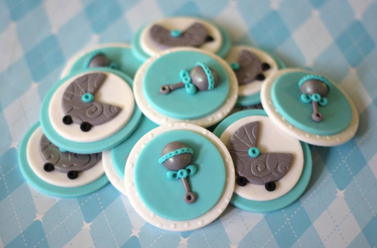 Fondant Cupcake Toppers Whimsical Baby Shower Fondant