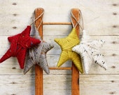 Christmas Ornament. Rustic Yarn Wrapped Star Ornament. (Colors: Claret, Stone, Vintage Green or Woodland) Gift Wrapping