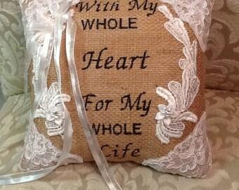 Wedding Ring or Proposal Pillow