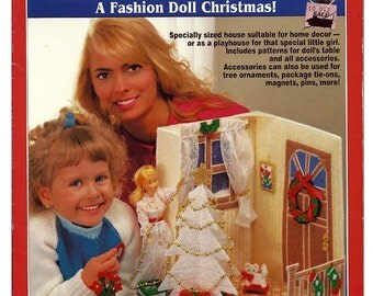 A Fashion Doll Christmas Plastic Canvas Pattern California Country Book 053