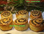 Vegan amazing poppy seed rolls with walnuts, 5 pieces!