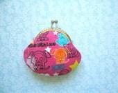 SHOP CLOSING SALE  Skelanimals - Kawaii Icons on Hot Pink - handmade coin purse