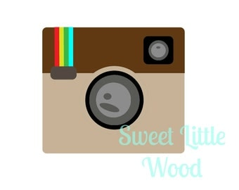 Insta Camera 3 x digital SVG file in exploded black line format with no fill, white fill and color format, PNG image included