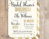 Gold Confetti Bridal Shower Baby Shower Invitation Bridal Shower Printable Invitation OR Printed Card