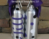 Personalized Sport Water Bottle- kid gift Idea - Birthday gift idea- Polka dots