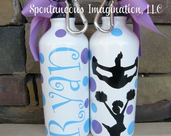 Cheer Water Bottle, Cheerleading Water Bottle, Cheer Gifts, Cheerleading Gifts, Personalized Sport Water Bottle, Custom Water Bottle